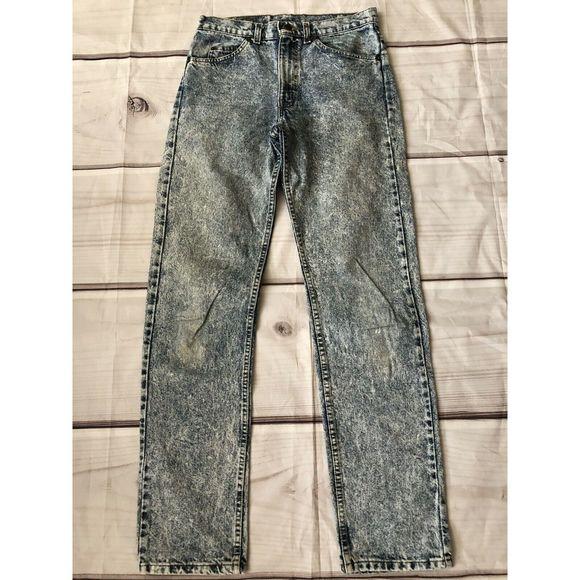 Levi/'s 505 Straight Leg Jeans Men Size 31 X 34 Stretch Classic Distressed Wash